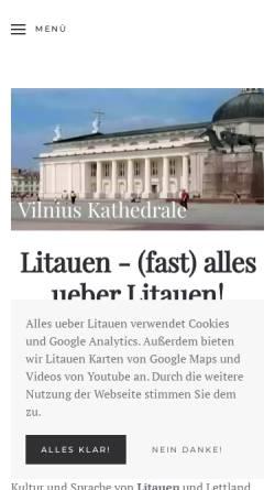 Vorschau der mobilen Webseite www.alles-ueber-litauen.de, Alles über Litauen