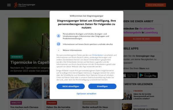 Vorschau von www.diegrenzgaenger.lu, Grenzgänger in Luxemburg - Mediaweb Editions SA