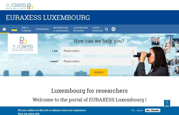 Vorschau von www.euraxess.lu, Euraxess Luxembourg