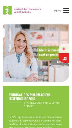 Vorschau der mobilen Webseite www.pharmacie.lu, Luxemburger Apotheker a.s.b.l.
