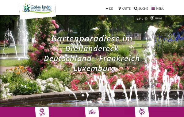 Vorschau von www.gaerten-ohne-grenzen.de, Gärten ohne Grenzen - Saarschleifenland Tourismus GmbH und Moselle Tourisme