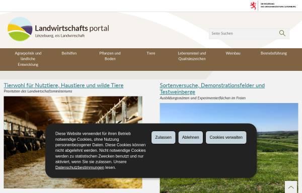 Vorschau von www.ma.public.lu, Ministerium für Landwirtschaft, Weinbau und Verbraucherschutz Luxembourg
