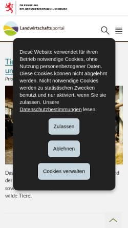 Vorschau der mobilen Webseite www.ma.public.lu, Ministerium für Landwirtschaft, Weinbau und Verbraucherschutz Luxembourg
