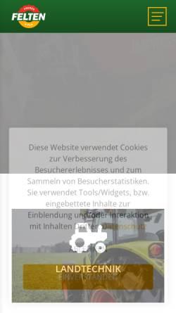Vorschau der mobilen Webseite www.felten.lu, Renault Garage Felten Frères & Fils