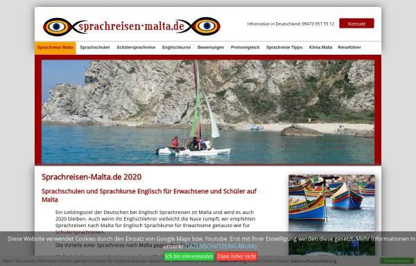Vorschau von www.sprachreisen-malta.de, Sprachreisen Malta