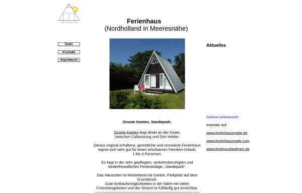 Vorschau von www.sandepark.de, Ferienhaus Sandepark