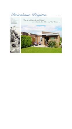 Vorschau der mobilen Webseite www.ferienhaus-brigitta.de, Ferienhaus Brigitta