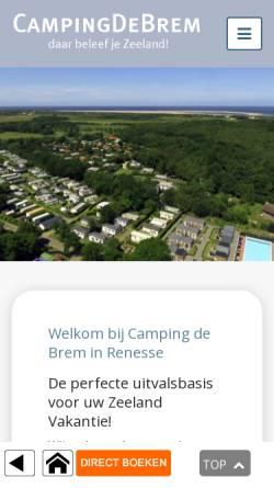 Vorschau der mobilen Webseite www.campingdebrem.nl, Camping deBrem