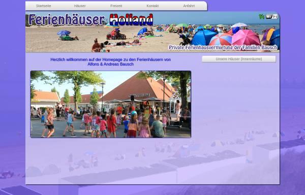 Vorschau von www.ferienhaeuserholland.de, Ferienhäuser Familie Bausch