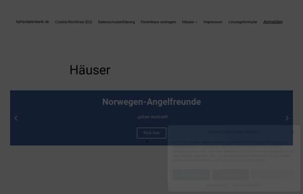 Vorschau von www.hyttendatenbank.de, Ferienhäuser von Gästen bewertet