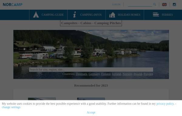 Vorschau von www.norcamp.de, Nor Camp - der Norwegen Campingführer
