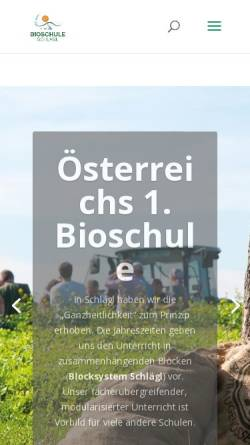 Vorschau der mobilen Webseite www.bioschule.at, Bioschule Schlägl