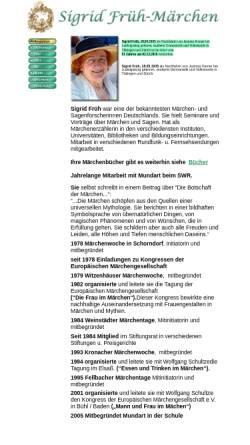 Vorschau der mobilen Webseite www.sigrid-frueh.de, Sigrid Früh - Märchen