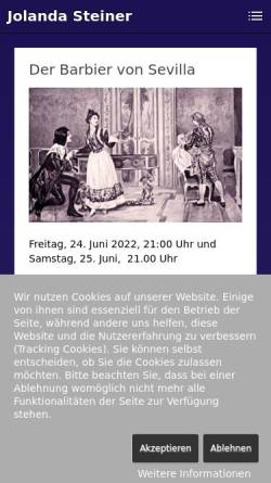 Vorschau der mobilen Webseite www.jolandasteiner.ch, Steiner, Jolanda