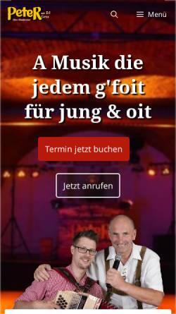 Vorschau der mobilen Webseite www.mobile-discothek.at, Peter Rebhan e.U.