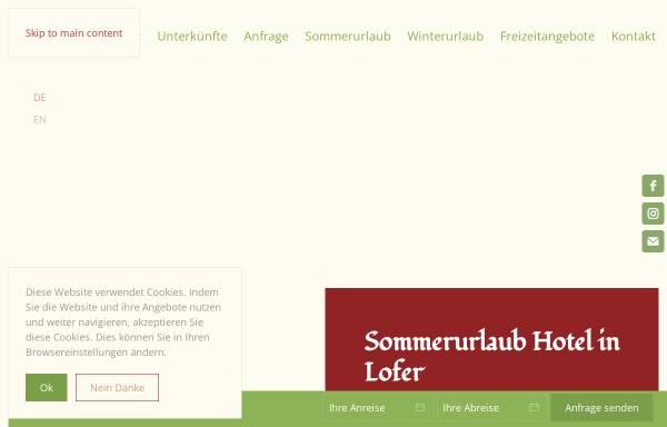 Vorschau von www.hotel-lofer.com, Gasthof Pension Zum Schweizer