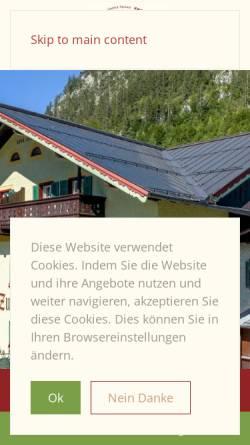 Vorschau der mobilen Webseite www.hotel-lofer.com, Gasthof Pension Zum Schweizer