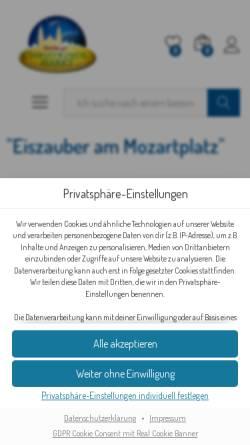 Vorschau der mobilen Webseite www.christkindlmarkt.co.at, Salzburger Christkindlmarkt