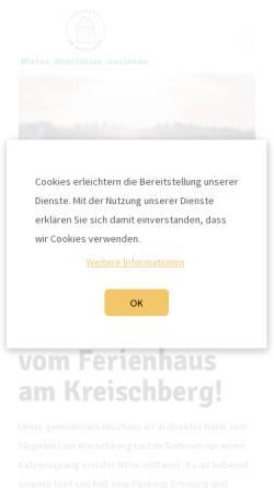 Vorschau der mobilen Webseite www.ferienhaus-kreischberg.de, Ferienhaus am Kreischberg