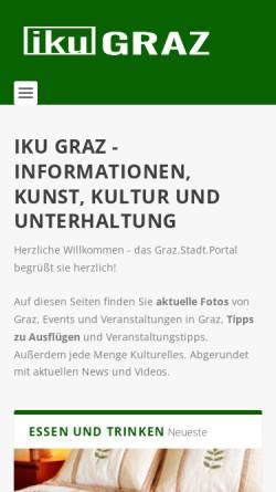 Vorschau der mobilen Webseite www.iku-graz.at, IKU Graz