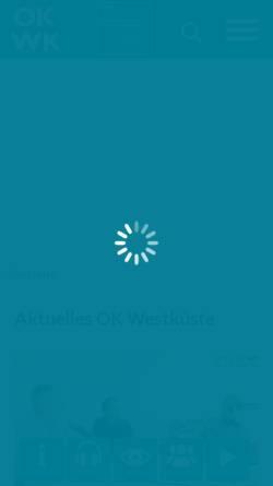 Vorschau der mobilen Webseite www.okwestkueste.de, Offener Kanal Westküste