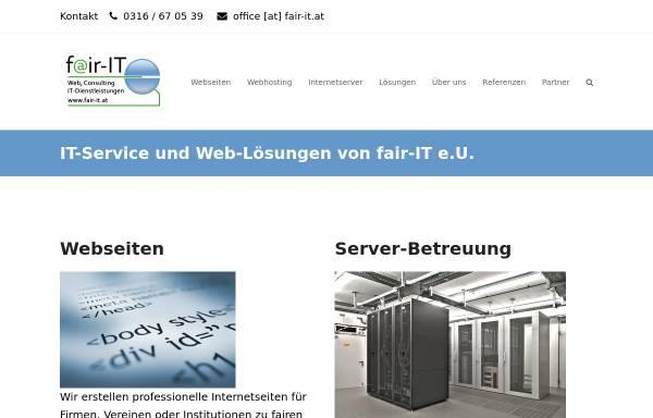 Vorschau von www.fair-it.at, fair-IT EDV Dienstleistungen
