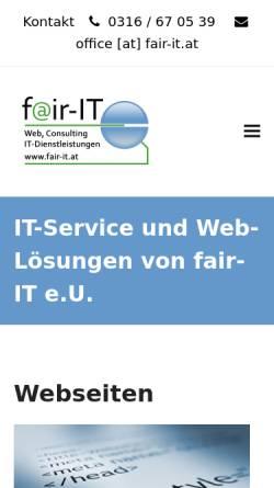 Vorschau der mobilen Webseite www.fair-it.at, fair-IT EDV Dienstleistungen