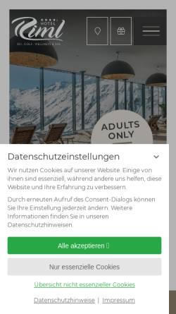 Vorschau der mobilen Webseite www.hotel-riml.com, Ski- und Golfresort Riml
