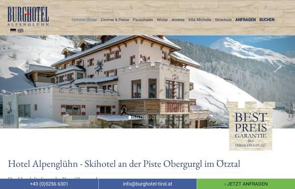 Vorschau von www.burghotel-tirol.at, Burghotel Alpenglühn