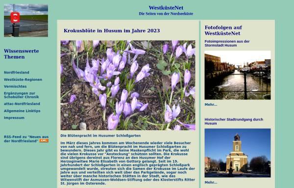 Vorschau von www.westkuestenet.de, WestküsteNet - Startseite