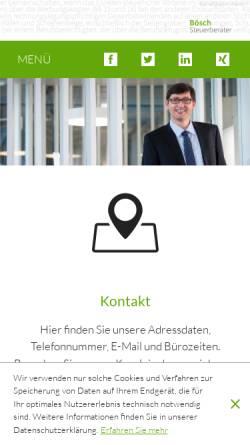 Vorschau der mobilen Webseite www.stb-boesch.at, Bösch Steuerberater, Mag. Martin Bösch