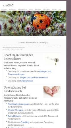 Vorschau der mobilen Webseite www.luedo.at, Luedo Coaching