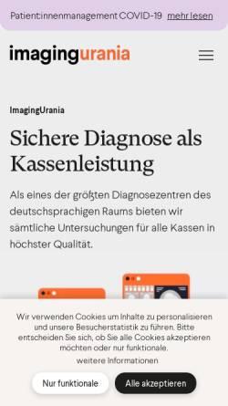 Vorschau der mobilen Webseite www.dzu.at, Diagnosezentrum Urania, 1010 Wien