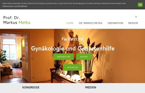 Vorschau von www.markus-metka.at, Prof. Dr. Markus Metka