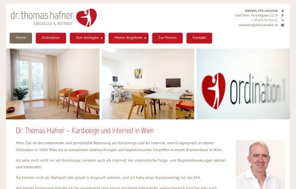 Vorschau von www.thomashafner.at, Dr. Thomas Hafner - Kardiologe und Internist