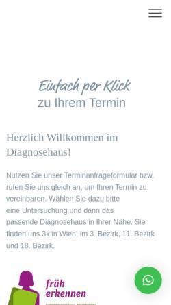 Vorschau der mobilen Webseite www.diagnosehaus.at, Diagnosehaus