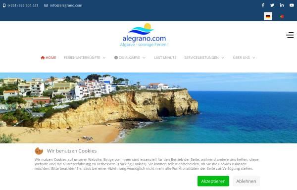 Vorschau von www.alegrano.com, Algarve Urlaub