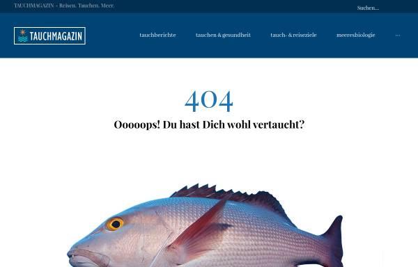 Vorschau von www.tauchmagazin.com, Tauchmagazin.com