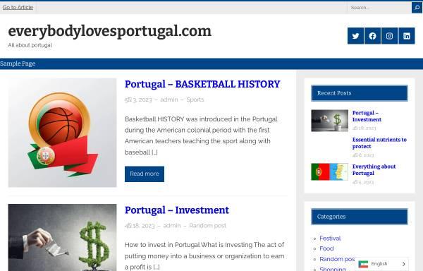 Vorschau von www.everybodylovesportugal.com, Everybody Loves Portugal