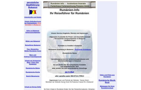 Vorschau von www.rumaenien-info.com, Rumänien Info
