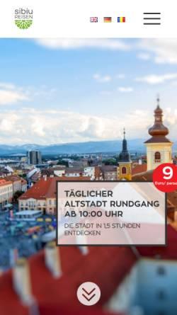 Vorschau der mobilen Webseite www.sibiureisen.ro, Sibiu Reisen S.R.L.