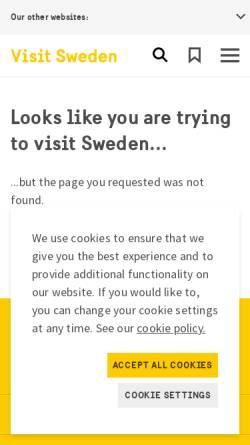 Vorschau der mobilen Webseite www.visitsweden.com, VisitSweden