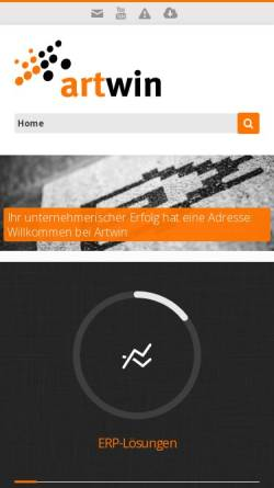 Vorschau der mobilen Webseite www.artwin.ch, Artwin AG