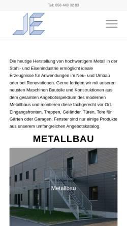 Vorschau der mobilen Webseite www.lehnert-metallbau.ch, Lehnert Metallbau GmbH