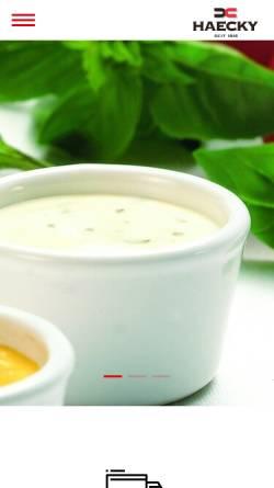 Vorschau der mobilen Webseite www.haecky.ch, Haecky Gruppe