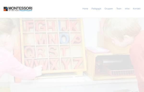 Vorschau von www.montessori-aare.ch, Montessori Kinderhaus an der Aare