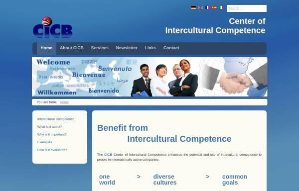 Vorschau von www.cicb.net, Center of Intercultural Competence