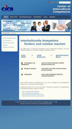 Vorschau der mobilen Webseite www.cicb.net, Center of Intercultural Competence