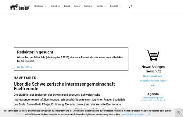 Vorschau von eselfreunde.ch, Schweizerische Interessengemeinschaft Eselfreunde