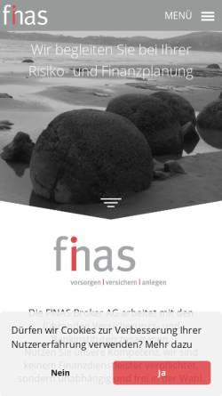 Vorschau der mobilen Webseite www.finas.ch, FINAS Broker AG